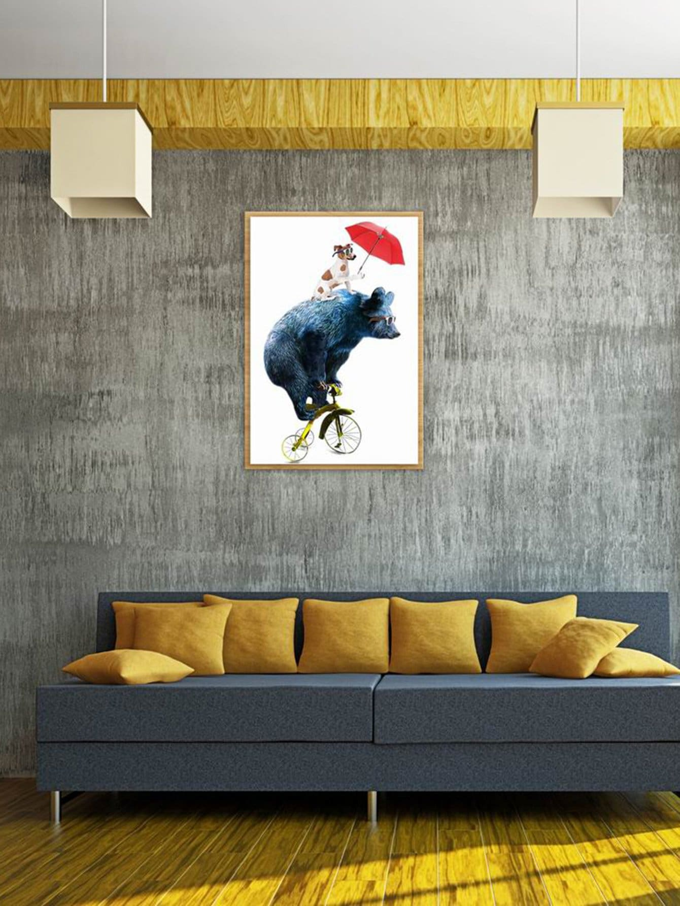 Bear & Dog Print Cloth Art