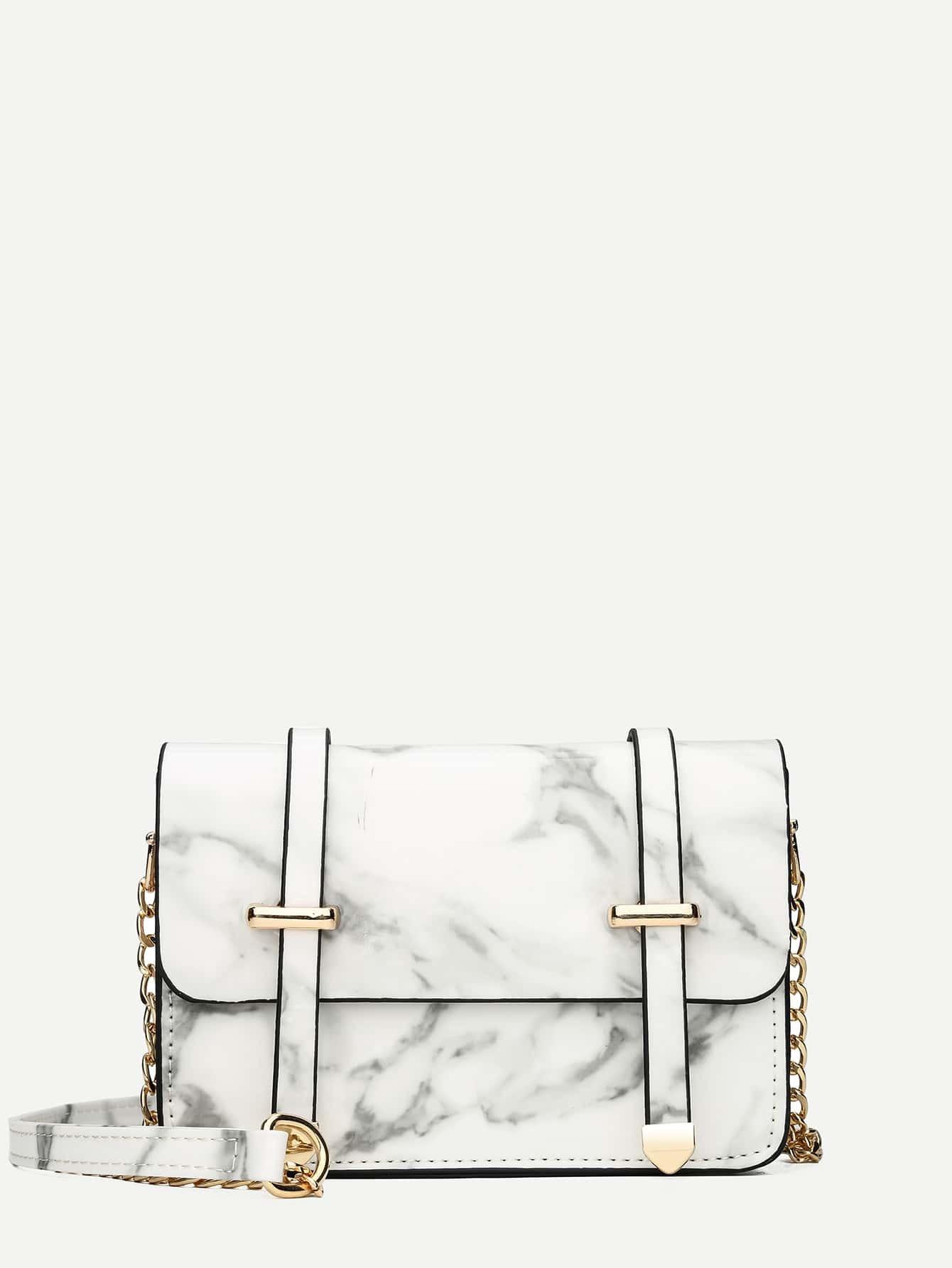 Marble Pattern Satchel Bag сумка the cambridge satchel
