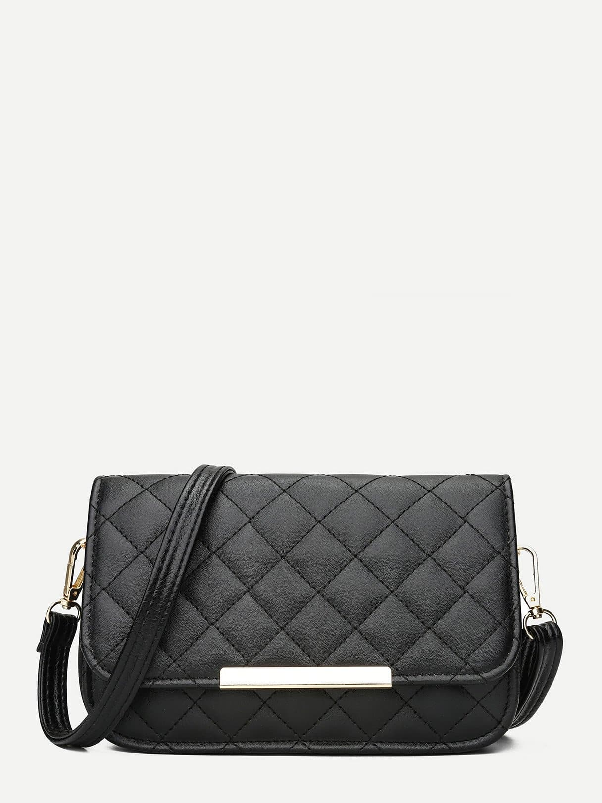Quilted Flap Bag storm 47362 b