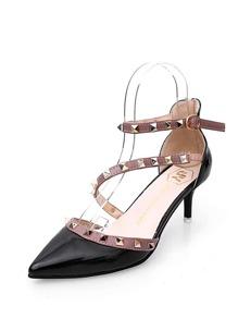 Studded Strap Gladiator Heels