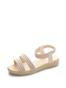 Elastic Strap Flat Sandals