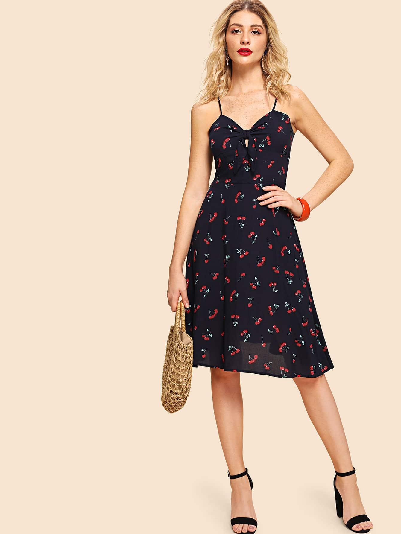 Allover Cherry Print Cami Dress allover cherry print tee