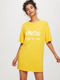Letter Print Tunic Dress