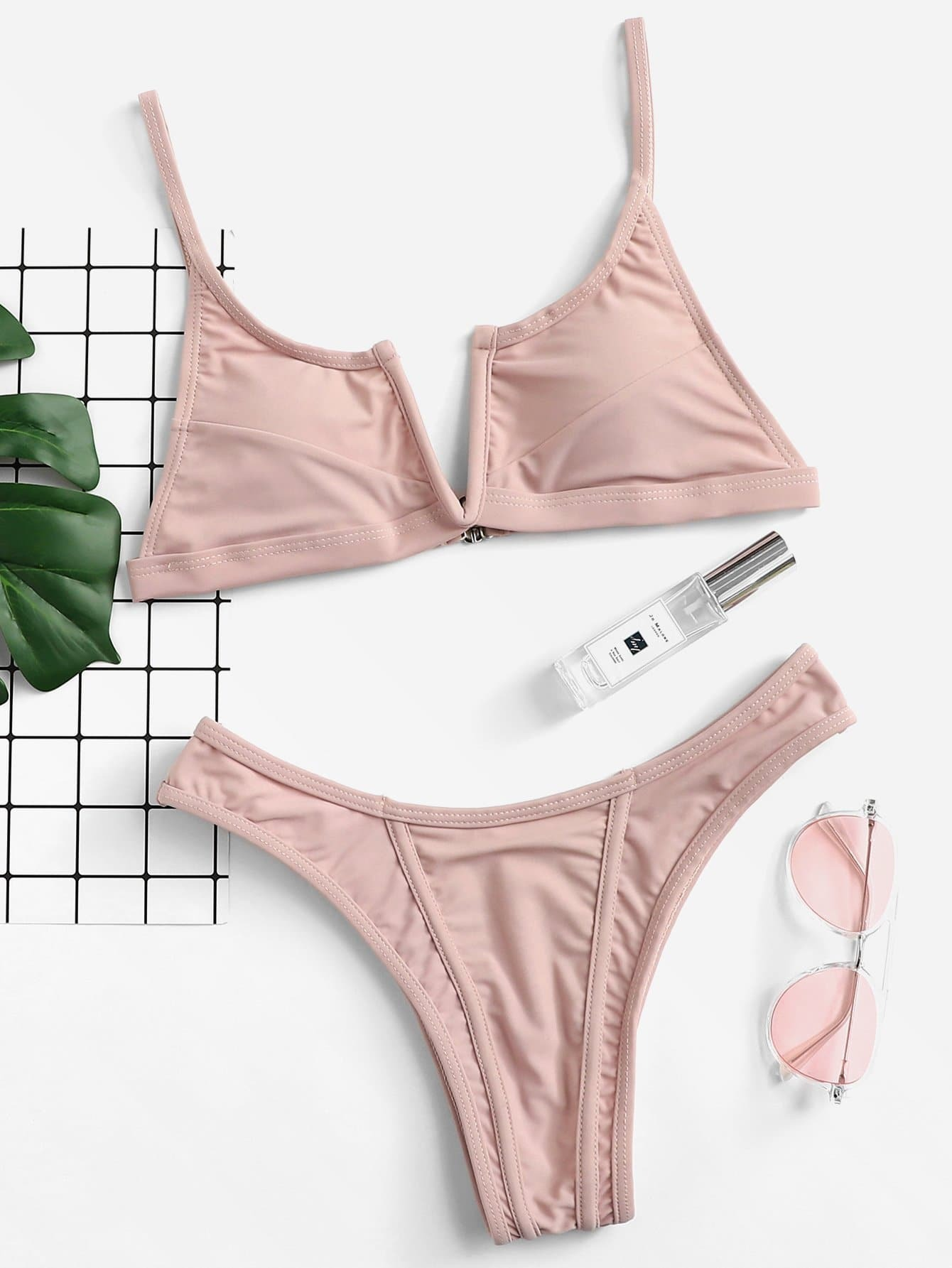Plain Bikini Set plain bikini top