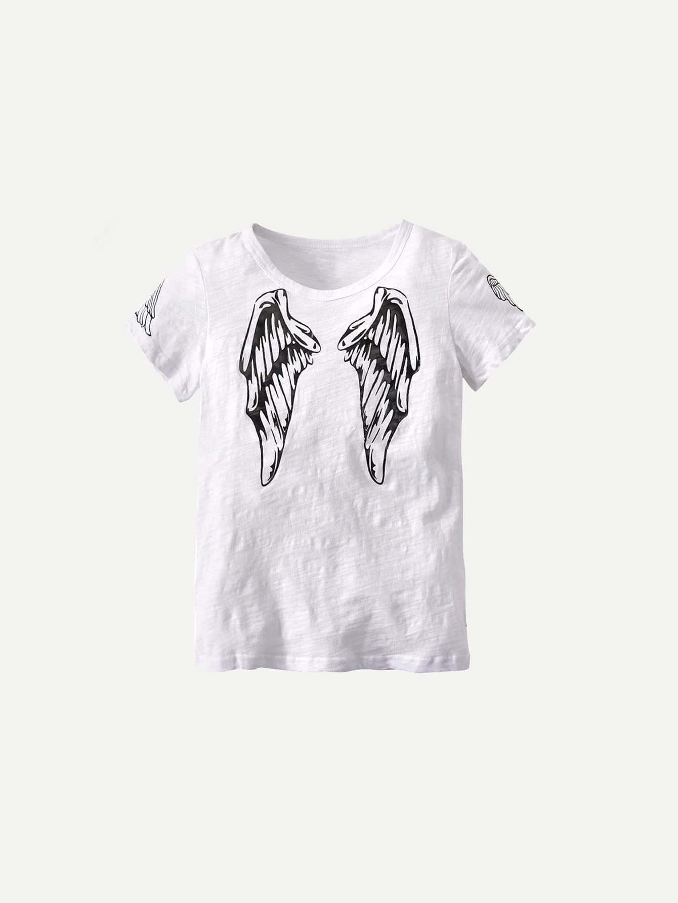 Boys Wings Print Tee boys tee
