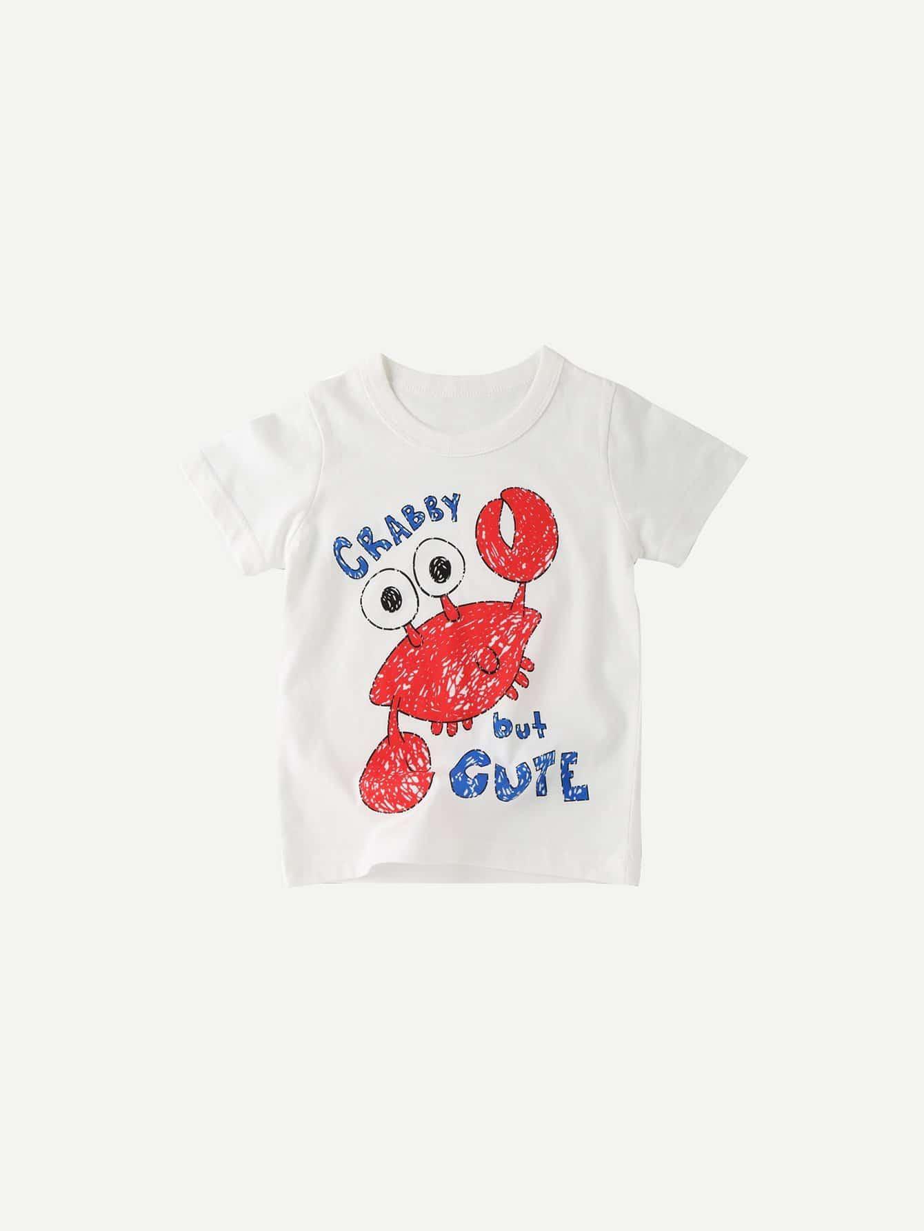 Boys Crab Print Tee boys tee