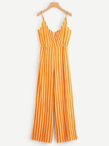 Striped Wide Leg Cami Romper