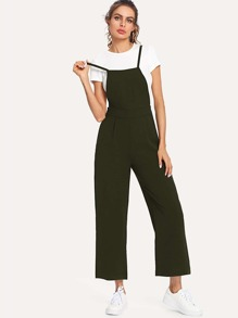 Solid Color Overall Pants