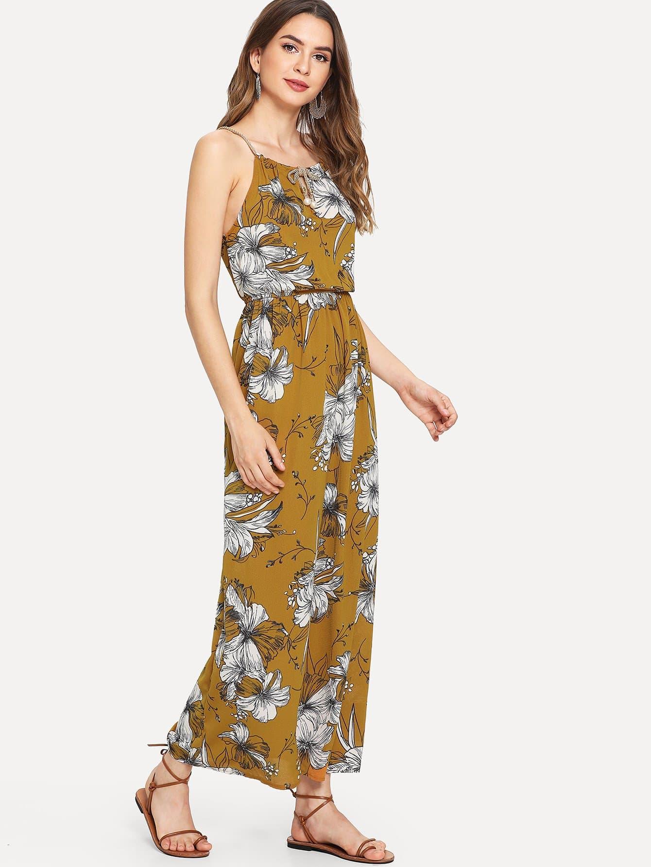Купить Цветочная печать Cami Dress, Jana, SheIn