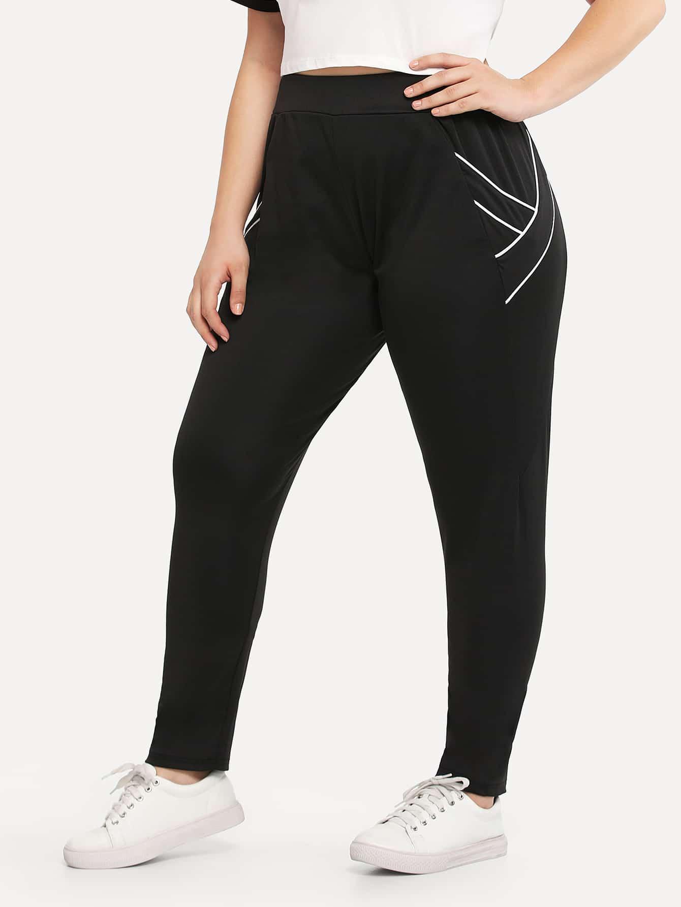 Seam Detail Pocket Side Pants платье seam seam mp002xw18uic