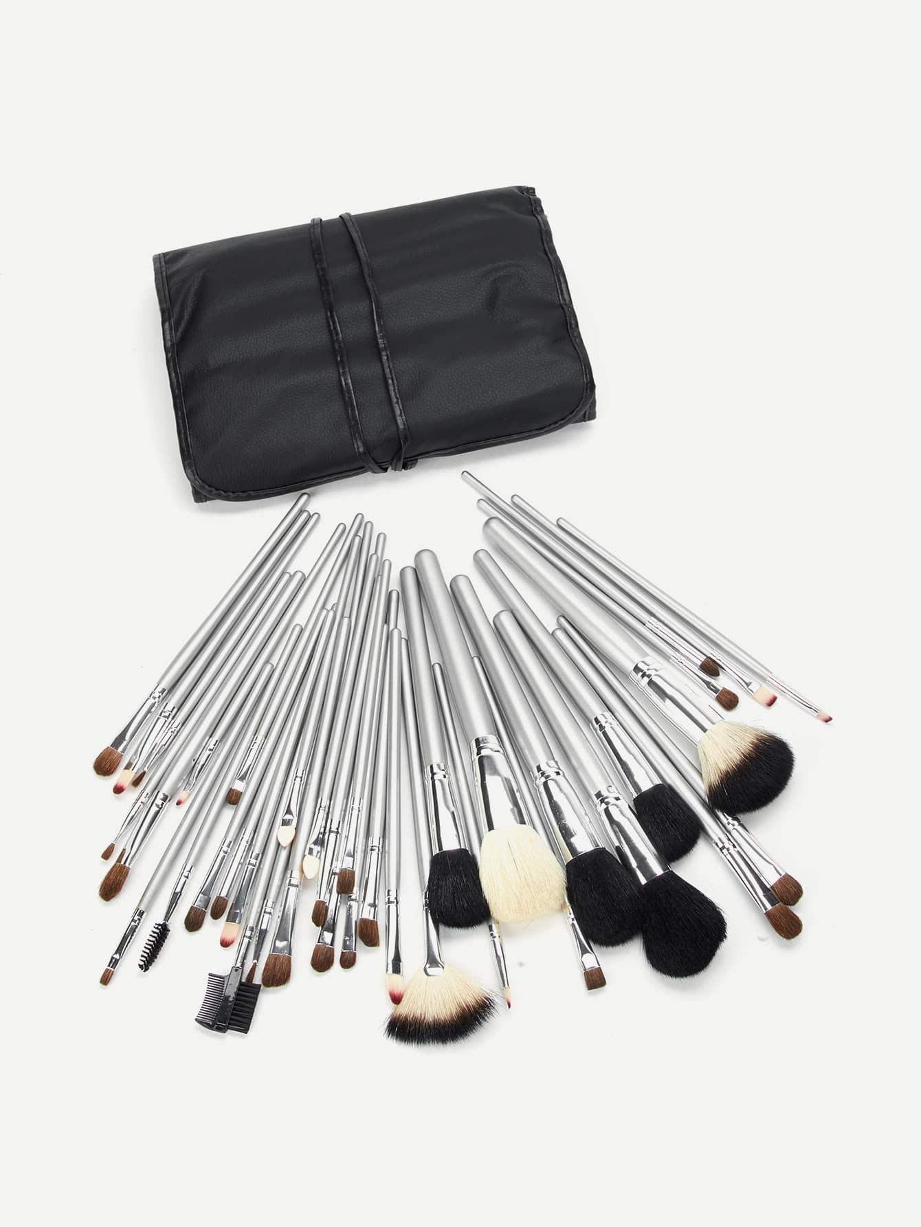 Cosmetic Makeup Brush Set 40Pcs With Bag tube professional 7 in 1 cosmetic makeup brush set w pu case purple