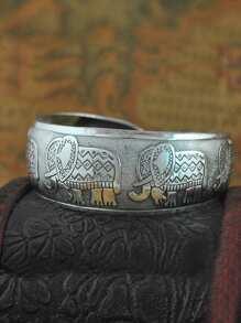 Elephant Decorated Bangle