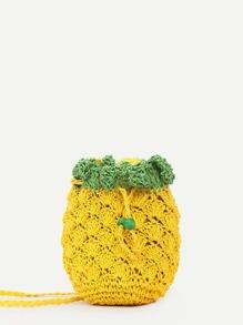 Pineapple Shape Woven Bag