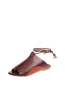 Toe Ring Plaited Strap Mules