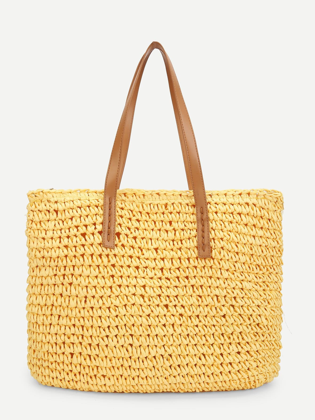 Woven Bag With Double Handle woven bag with double handle