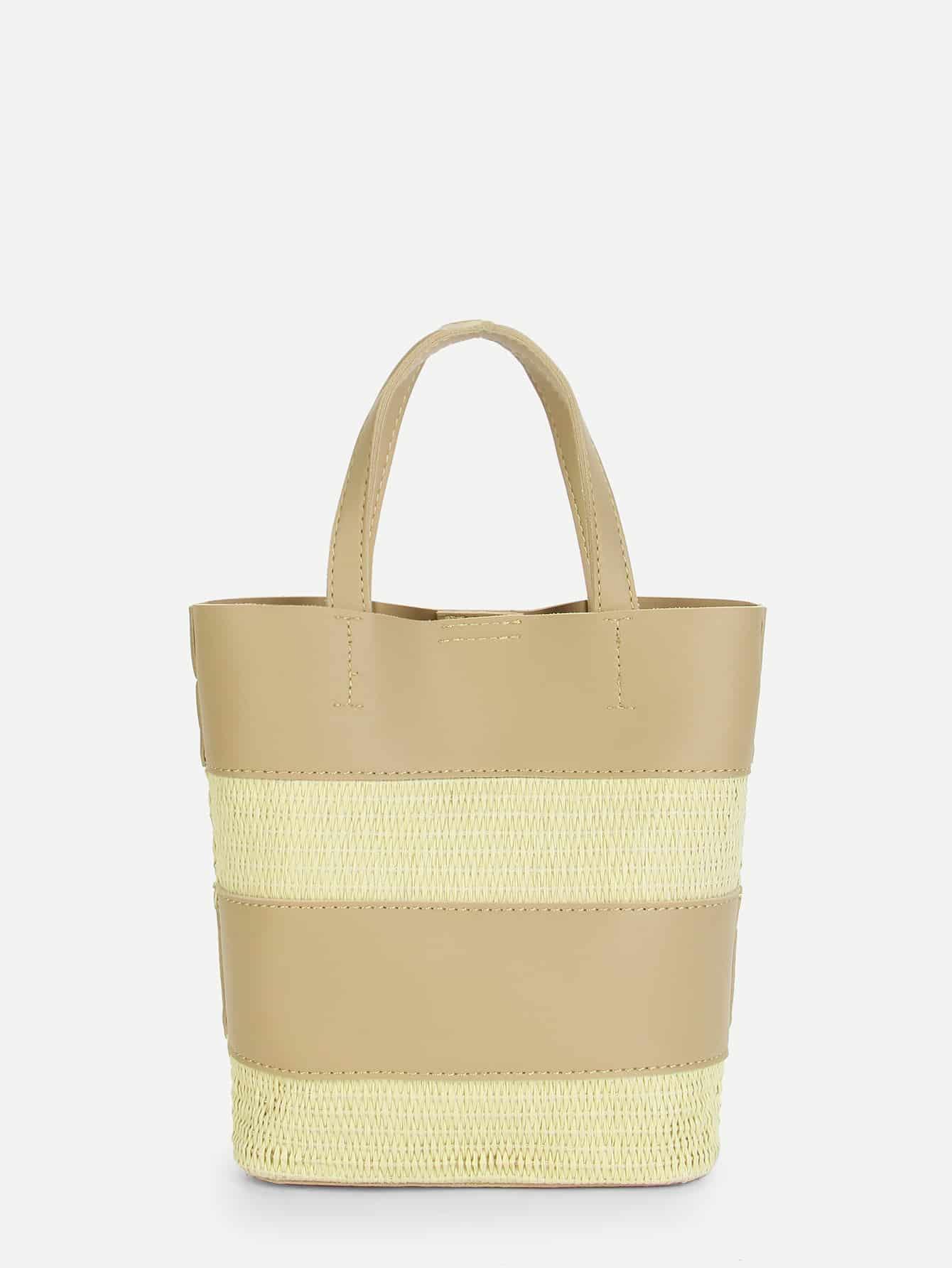 Block Striped Tote Bag