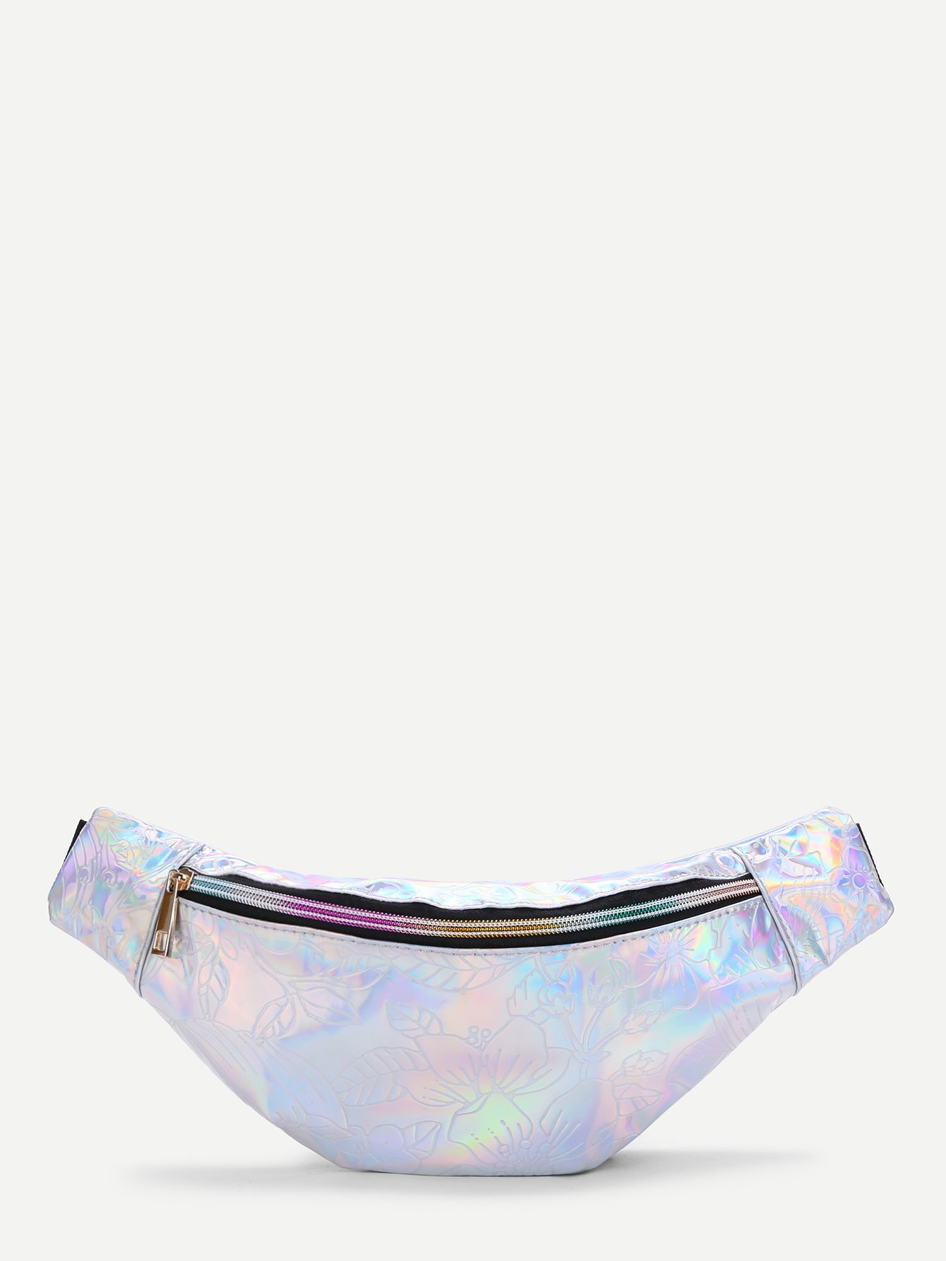 Flower Pattern Iridescent Bum Bag iridescent tote bag
