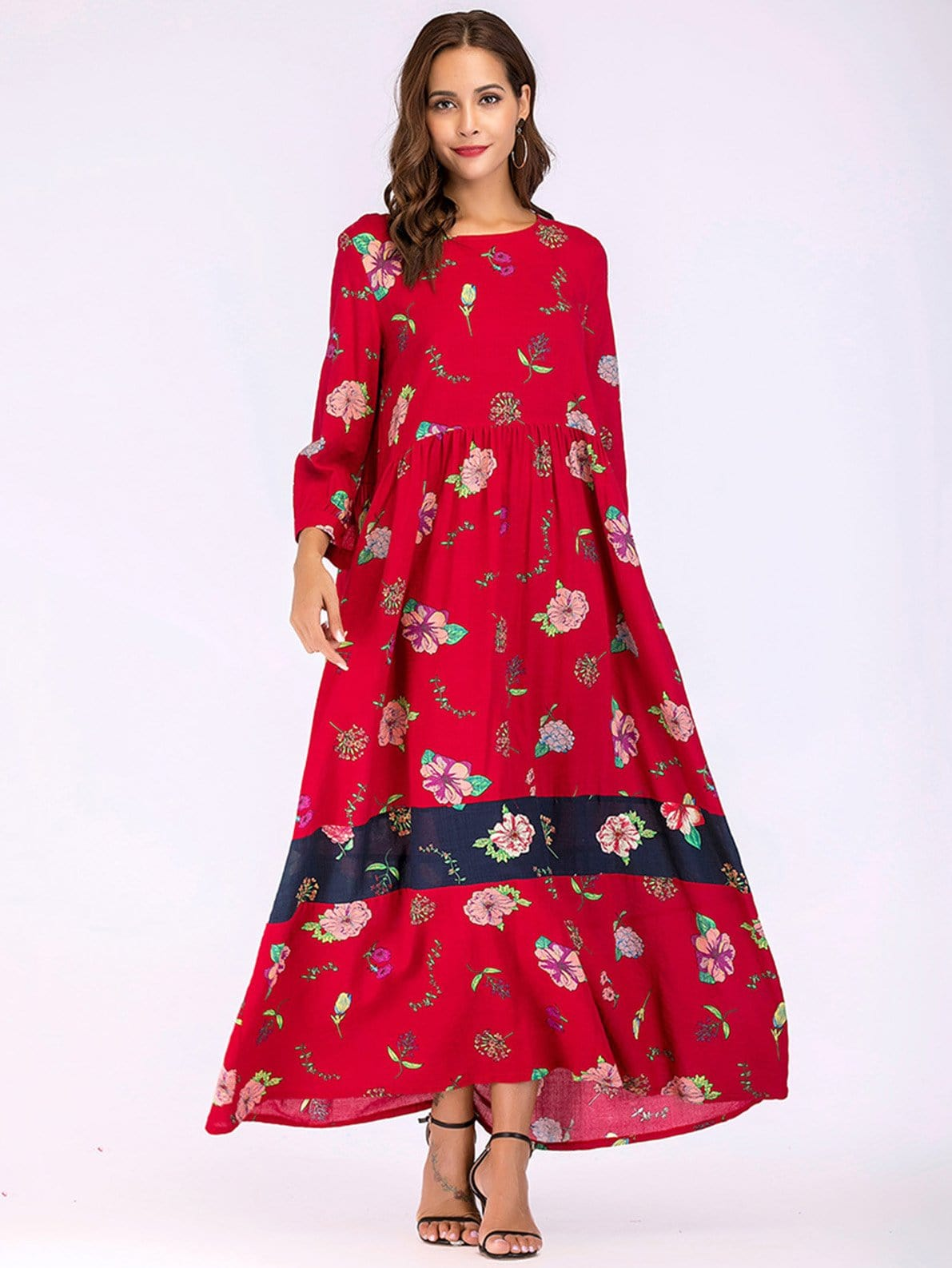 Купить Платье с длинными платьями, Giulia, SheIn