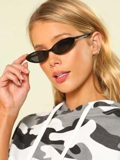 Oval Lens Cat Eye Sunglasses