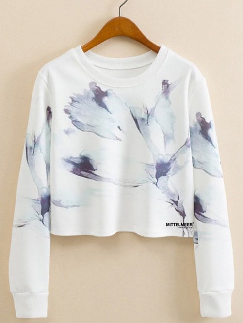 Ink Painting Print Sweatshirt men ink painting print tshirt