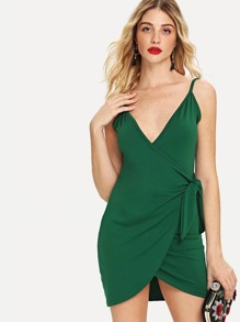 Knot Side Wrap Cami Dress