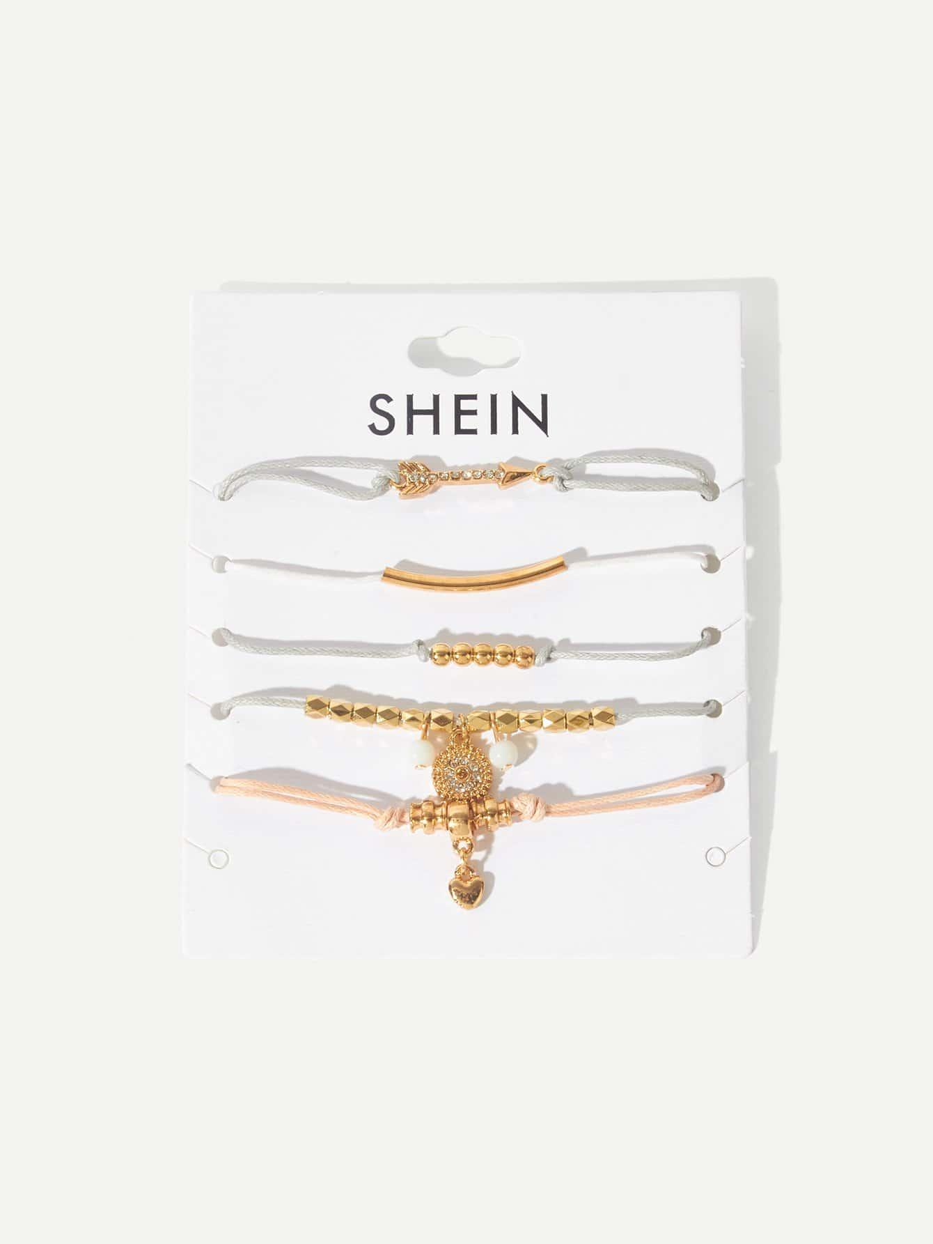 Купить Комплект и браслет для стрельбы из сердца и сердца 5шт., null, SheIn
