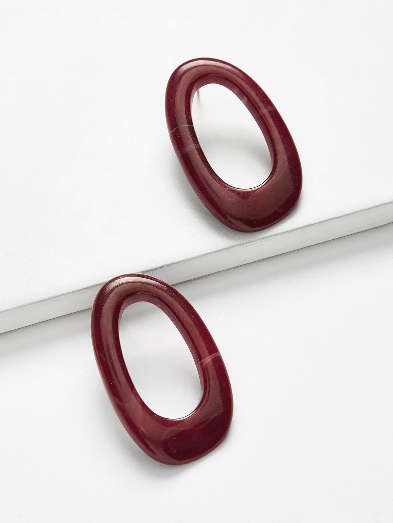 Hoop Design Stud Earrings glitter hoop stud earrings