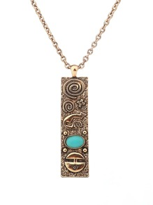 Straight Pendant Chain Necklace