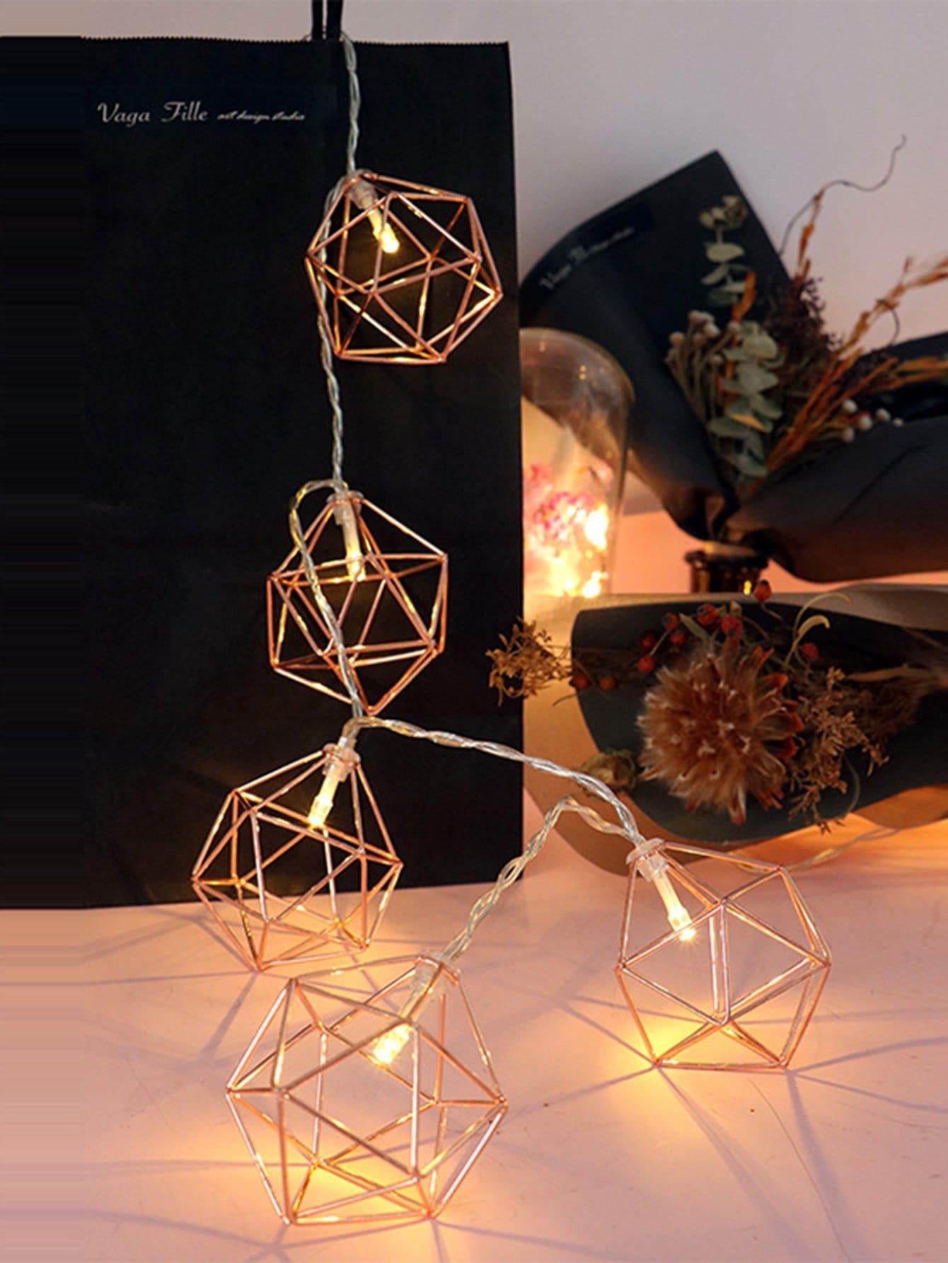 Geometric Lampshade 10pcs String Light 20pcs mini pavilion lampshade string light