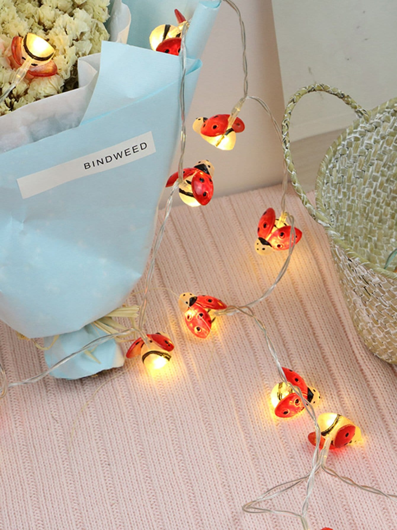 20pcs Ladybug Shaped Bulb String Light влажный корм schesir для кошек тунец 100 гр