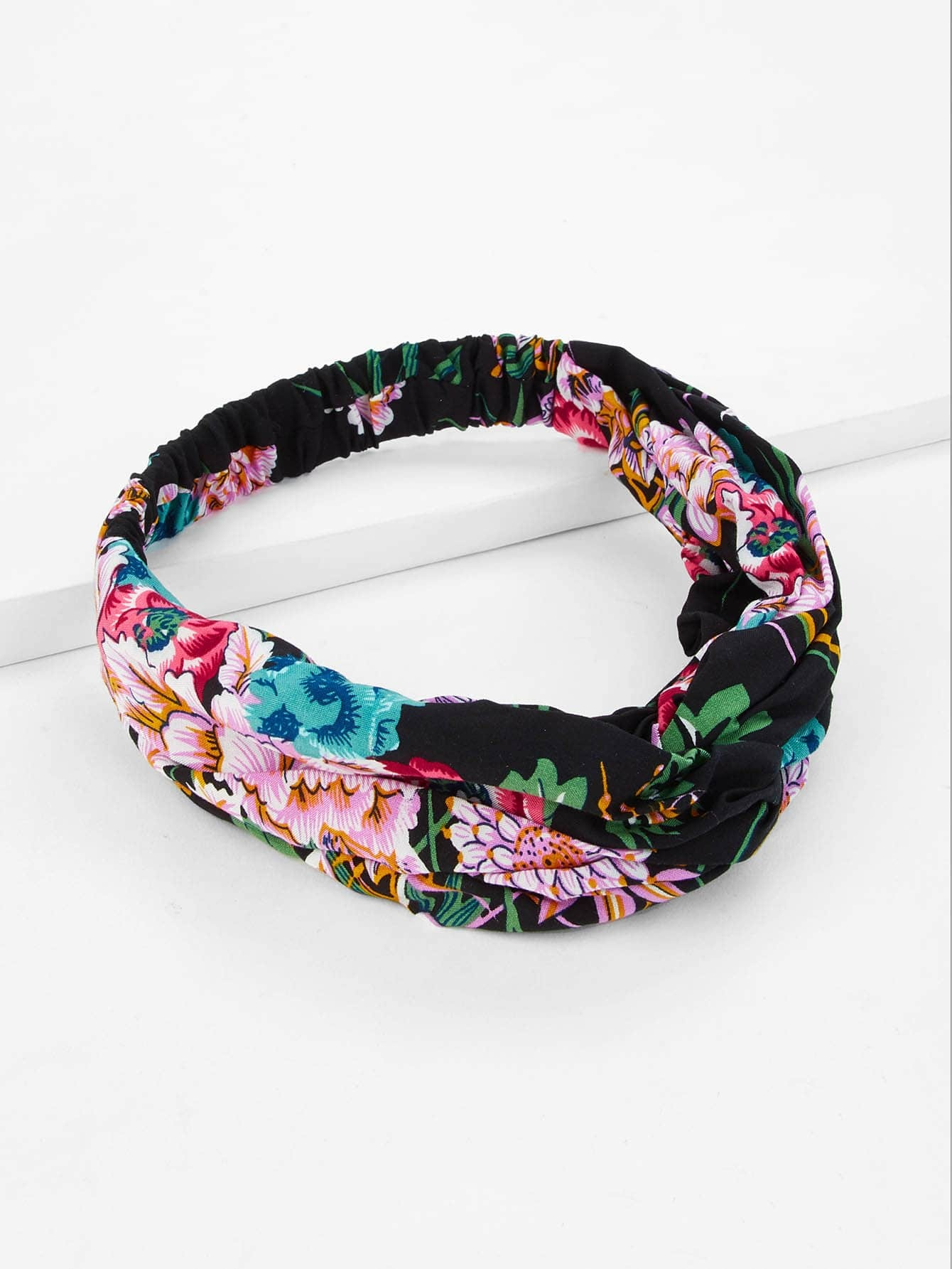 Flower Print Twist Headband tropical print twist headband