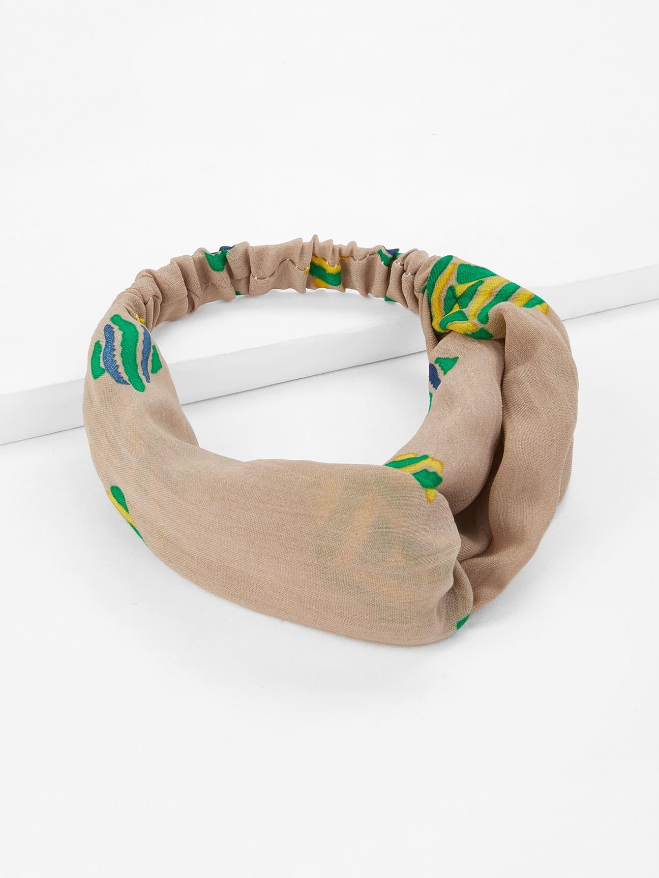 Colorblock Twist Headband rib twist headband