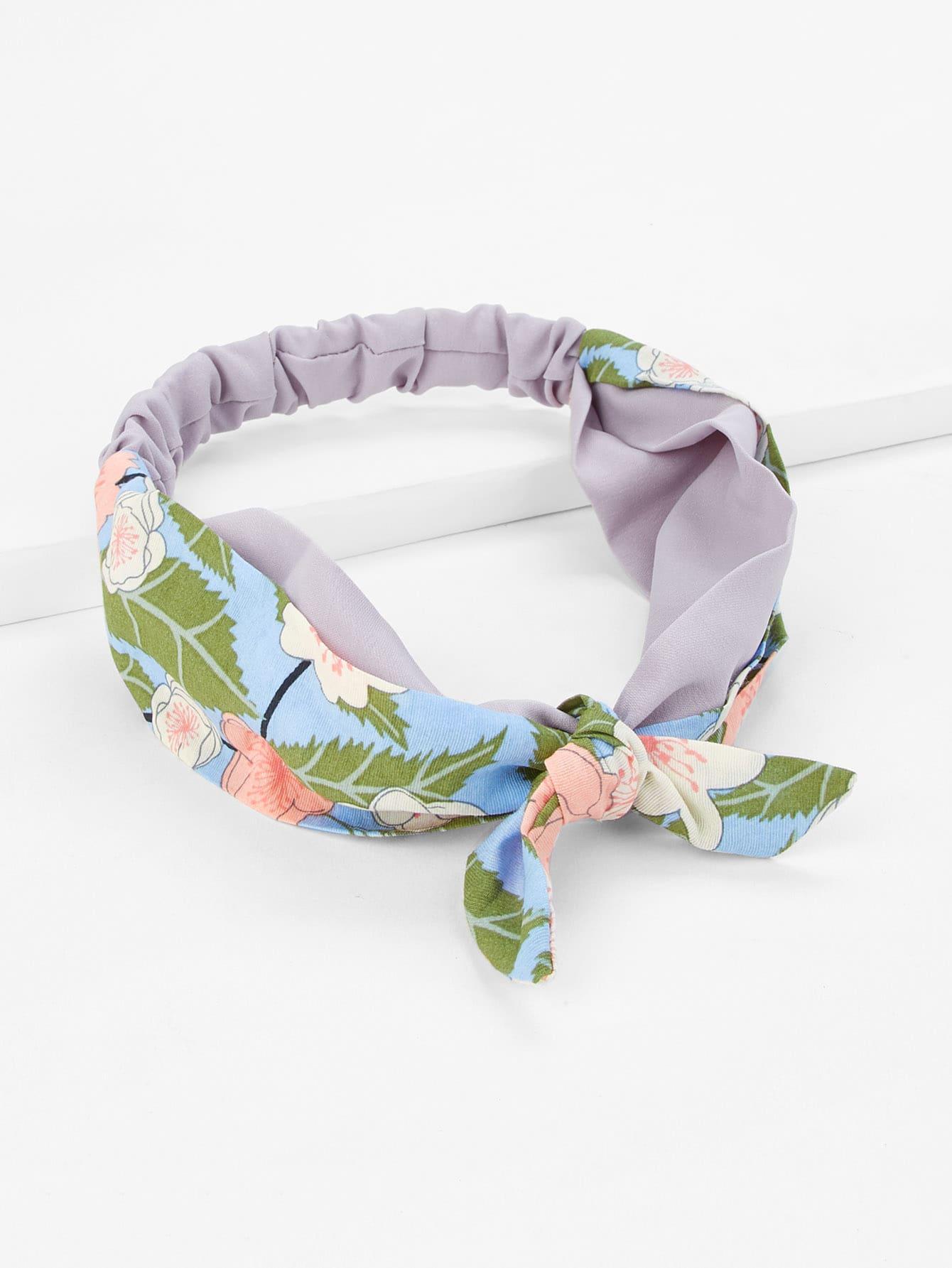 Flower Print Knot Headband mixed print headband