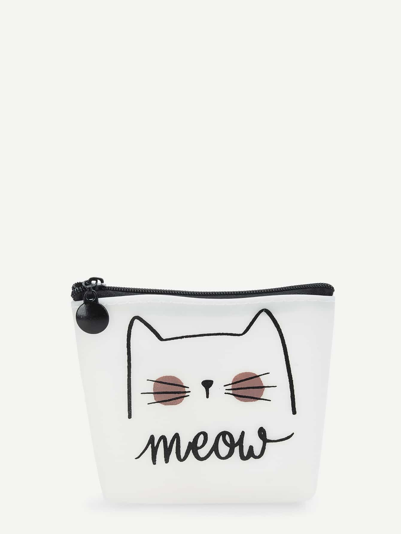 Cat Print Makeup Bag makeup organizer travel bag women cosmetic bags summer dumpling clutch women packages waterproof cosmetic bag handbag