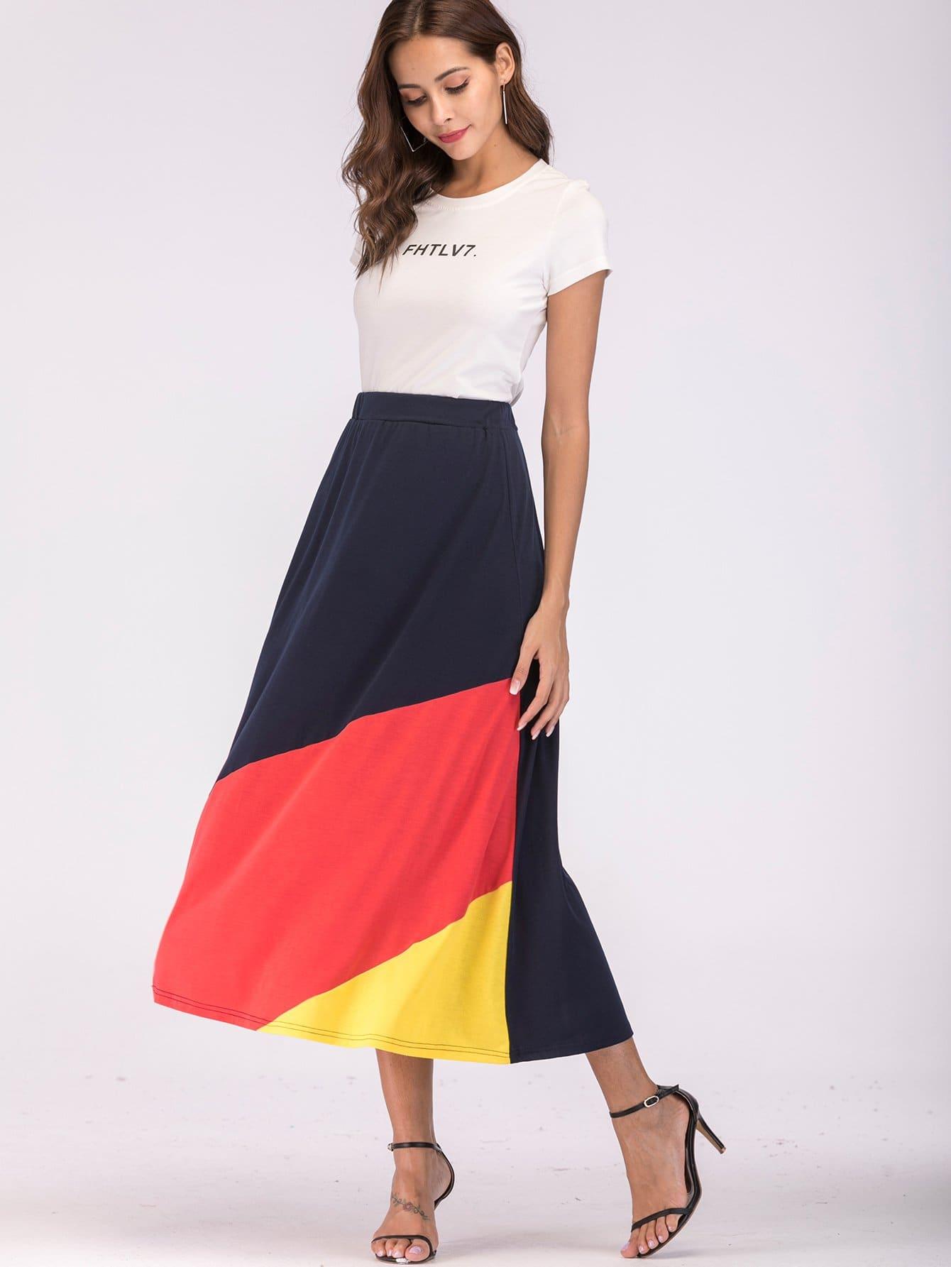 Color Block Skirt