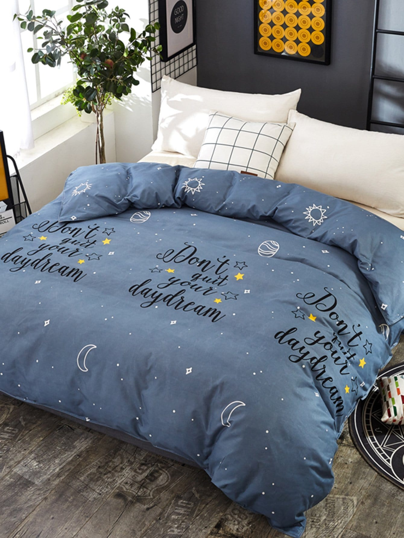 Star & Letter Duvet Cover Set