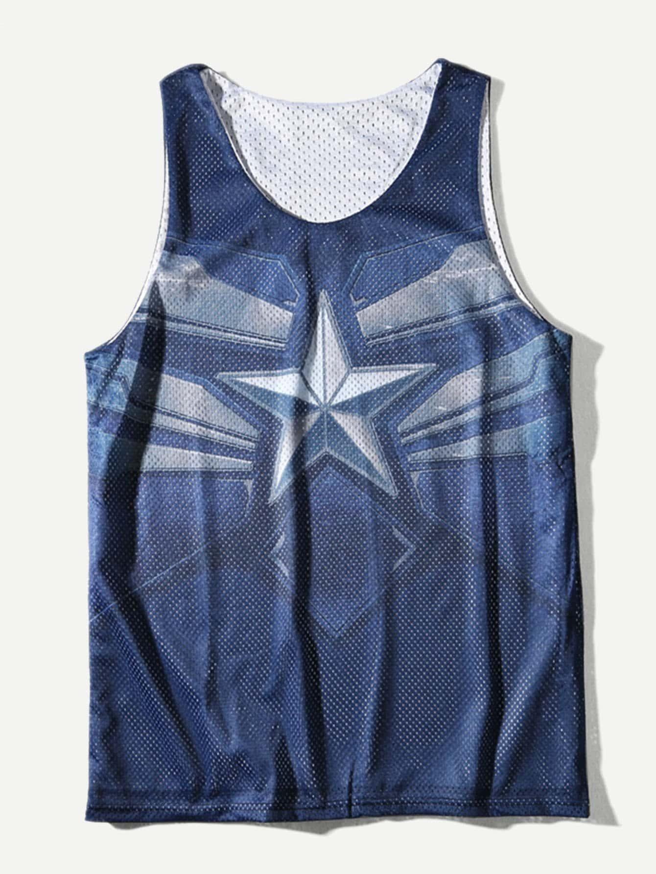 Men Star Print Vest force 51014