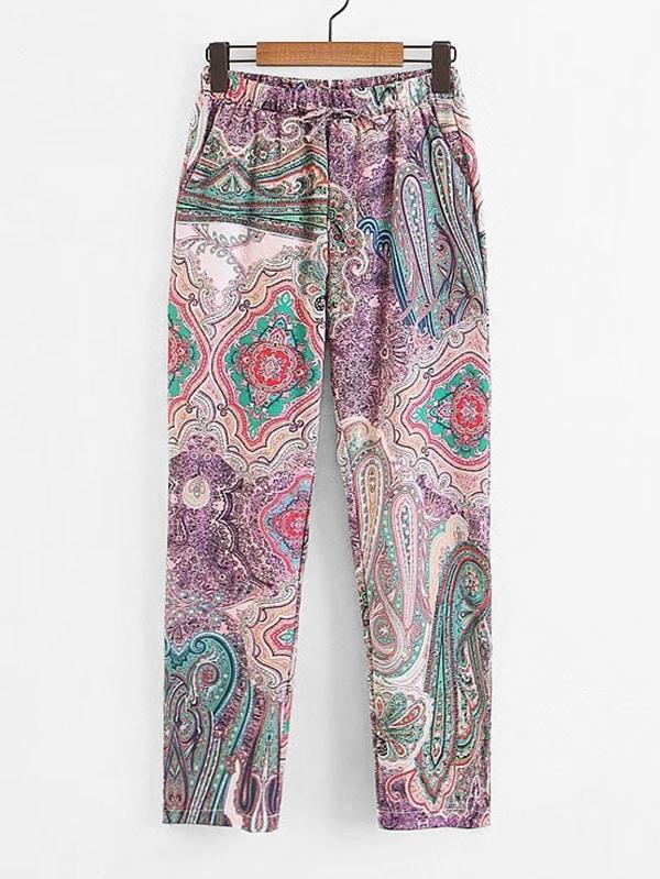 Paisley Print Pants paisley print pants