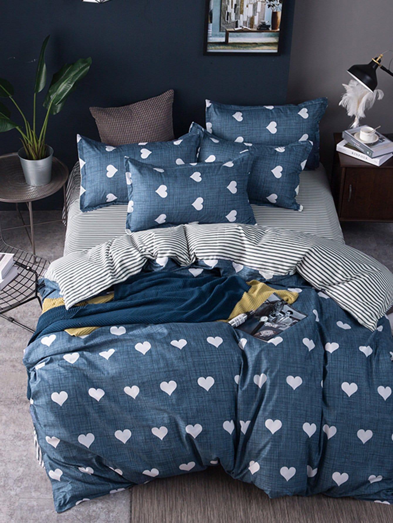 Купить Комплект для кровати с принтом, null, SheIn