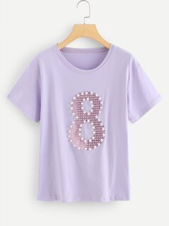Pearl Beaded 8 Pattern Tee