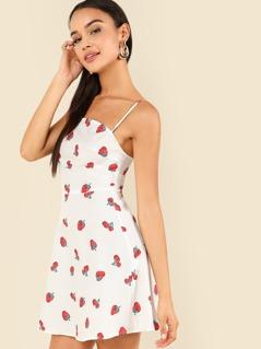 Fruit Print Cami Dress