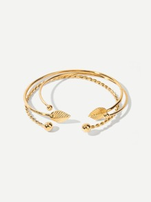 Spiral Design Cuff  Bracelet 3pcs