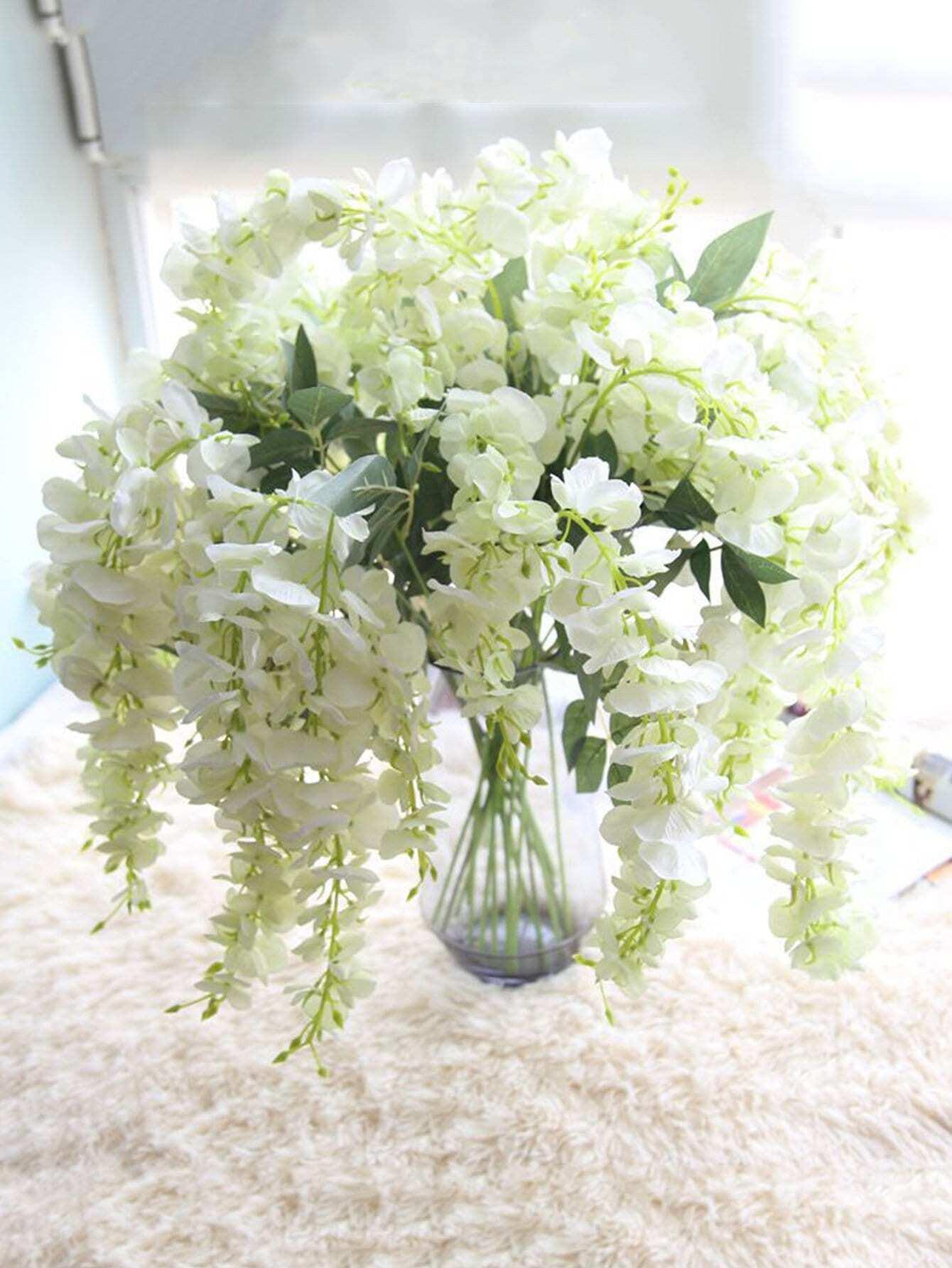 Artificial Wisteria Flowers Vine 1pc decorative wreaths flowers vine garland leaf
