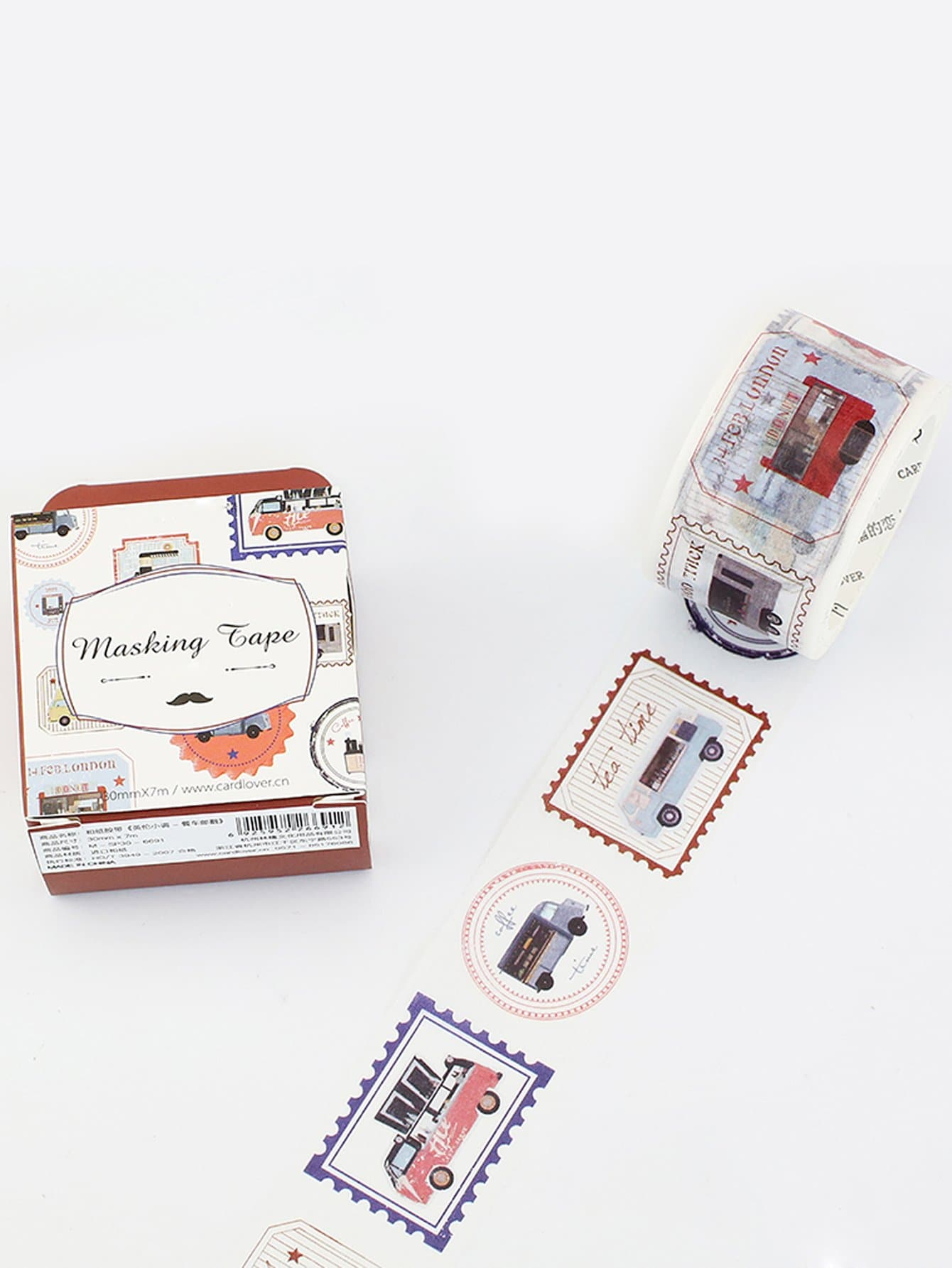 Car Print Masking Tape aviation plane car washi paper masking tapes scrapbooking floral tape gift wrapping sticker diy stickers decals