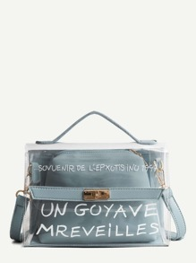 Twist Lock Clear Bag With Inner Clutch
