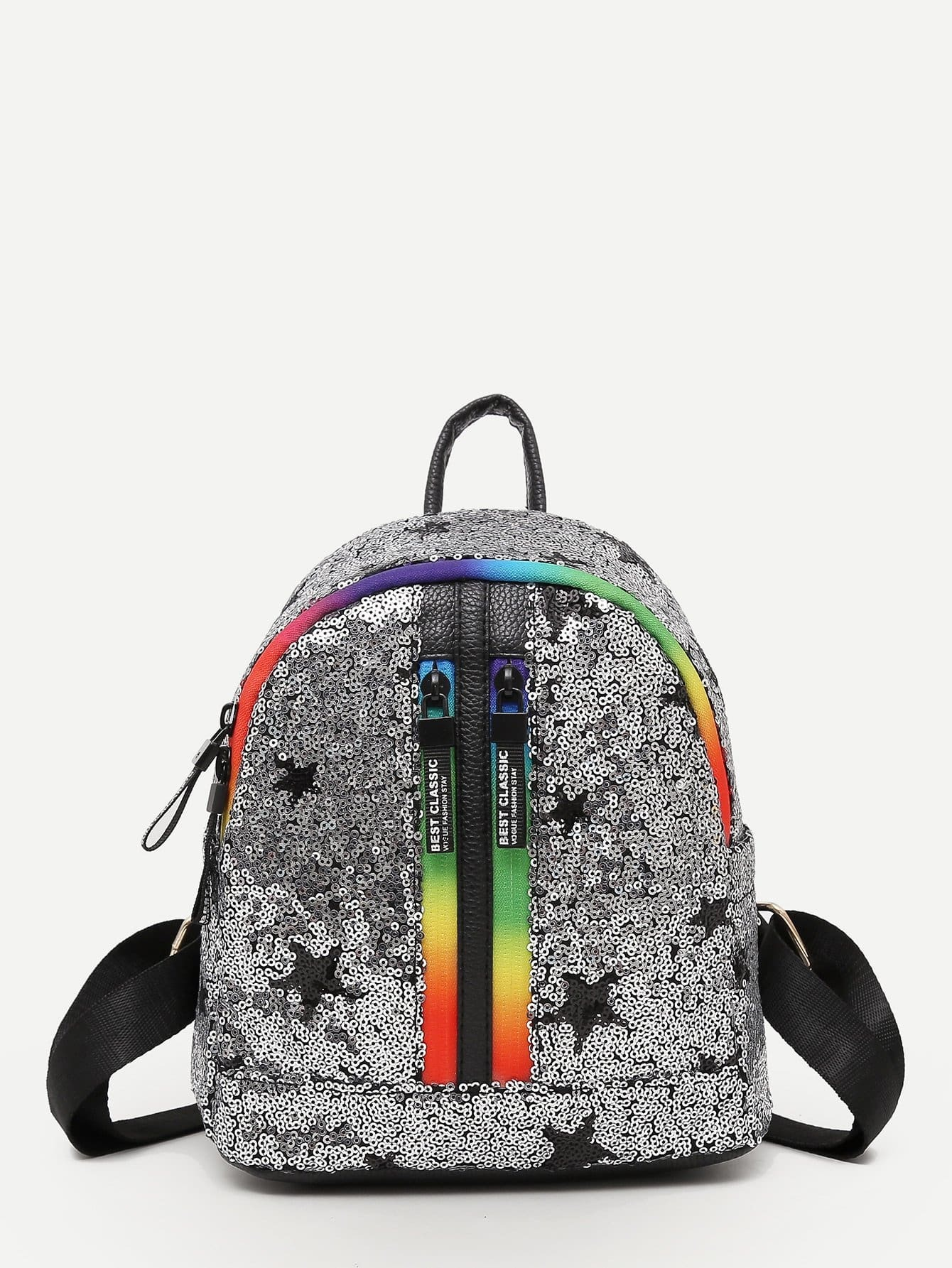 Фото Sequins Decor Zip Backpack sequins