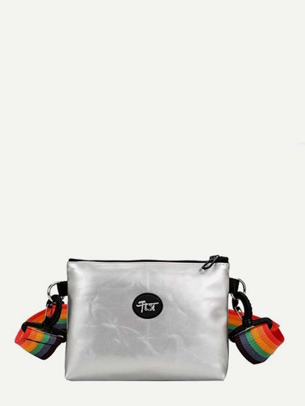 Rainbow Strap Crossbody Bag by Sheinside