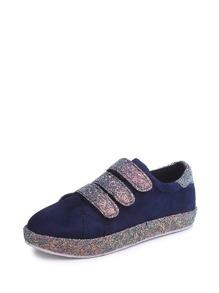 Glitter Velcro Strap Sneakers