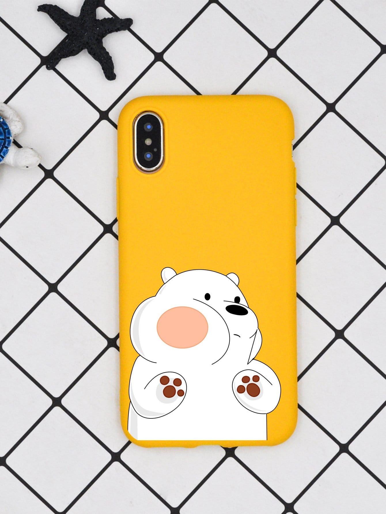 Bear Print iPhone Case