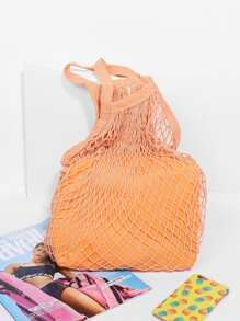 Net Tote Bag With Inner Pouch SHEIN
